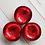 Thumbnail: Noya bowl rood metallic leaf