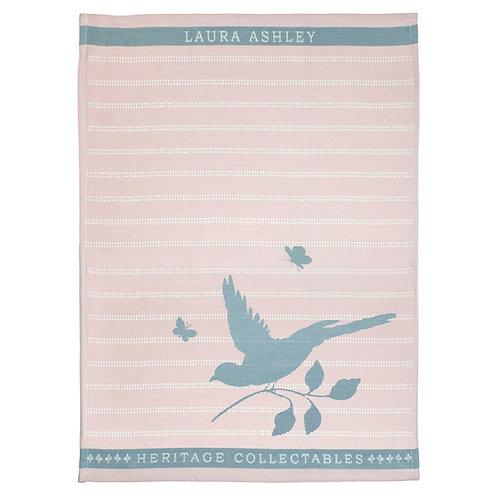 Keukenhanddoek bird roze
