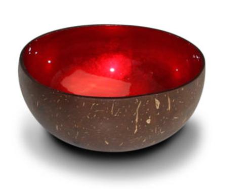 Noya bowl rood metallic leaf