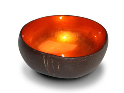 Noya bowl oranje metallic leaf