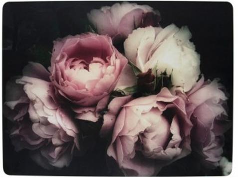 Set 4 placemats rozen