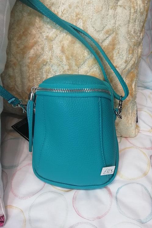 Kleine tas turquoise