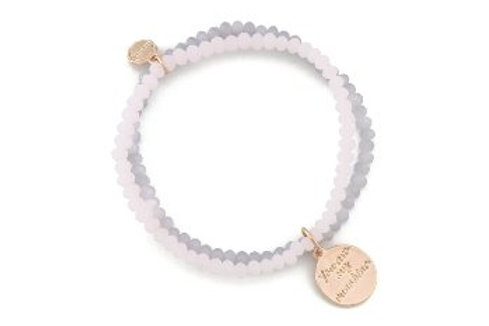 Armband roze/paars