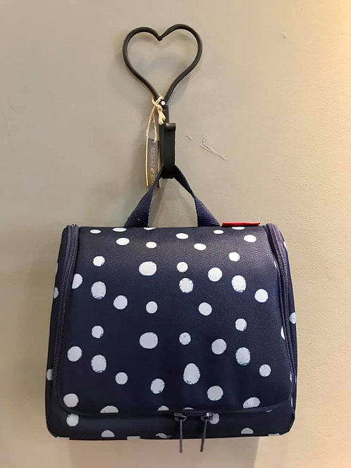 Reisenthel toilettas blauw Dots xl