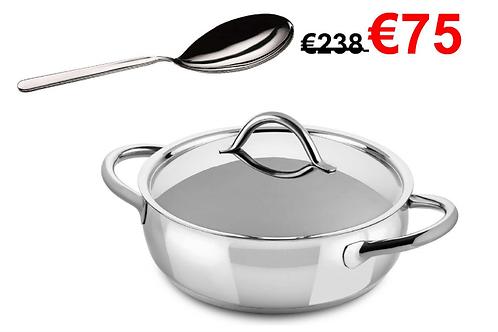 Risotto kookpot + gratis risottolepel+ 2x 500g Risottorijst