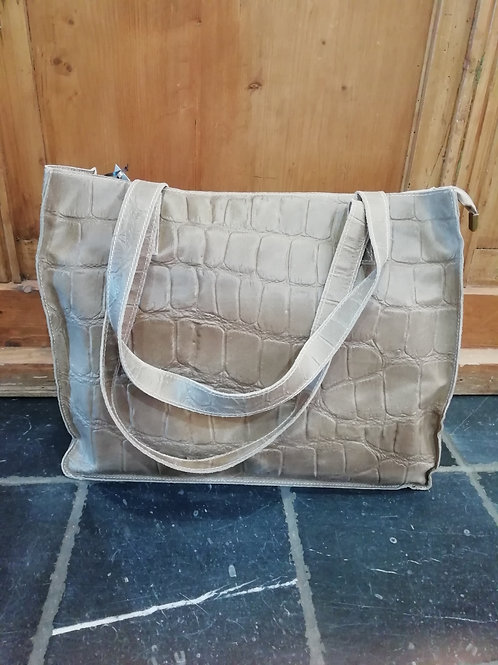 Schoudertas shopper model beige