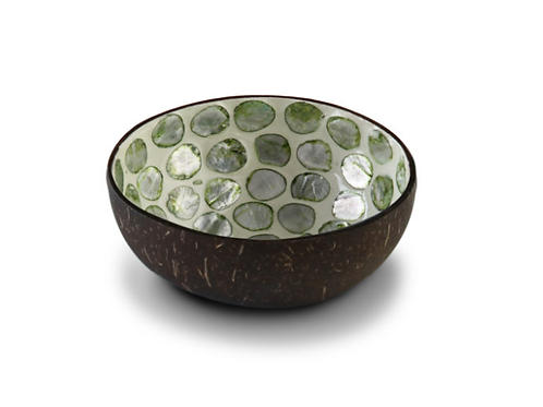Noya bowl Green Mother of Pearl