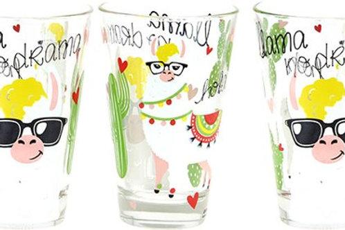 Set van 3 glazen Lama L