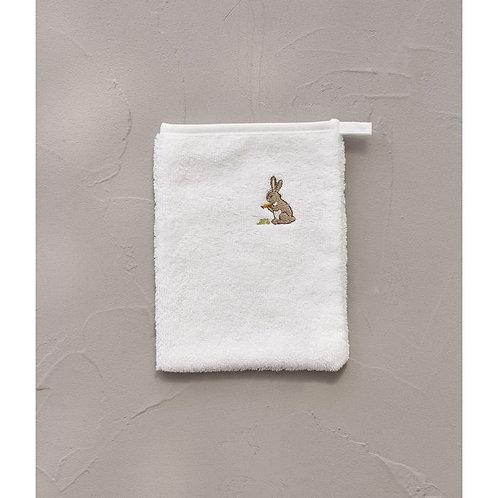 Washand wit konijn