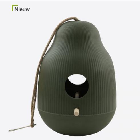 Vogelhuisje bamboevezel groen