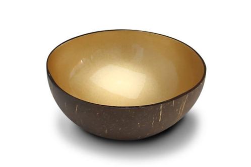 Noya bowl light gold metallic paint