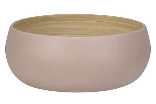 Schaal bamboe roze 20cm