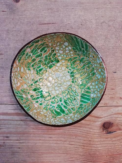 Coconut bowl groen/goud
