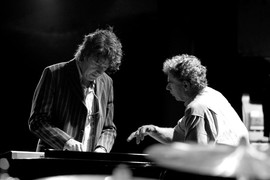 Michiel Borstlap with Bill Bruford in Tokyo - Japan