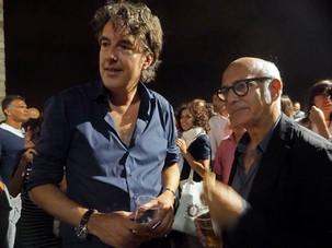 Michiel Borstlap with Ludovico Einaudi after concert in Verucchio Italy