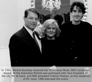 Michiel Borstlap with Vice-President of the USA Al Gore and BMI President Frances Preston