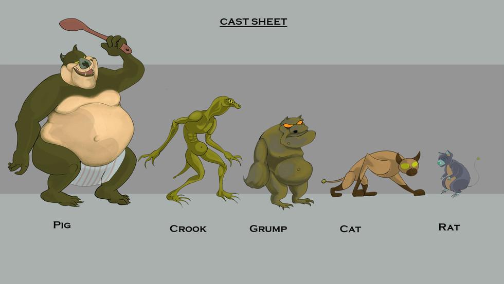 Swamp Cat Cast Sheet