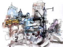 Midtown Manhattan drawing.