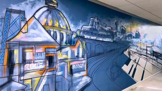 """Brooklyn Sunset"" mural"