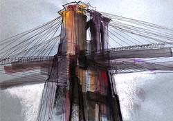 Brooklyn Bridge drawing.