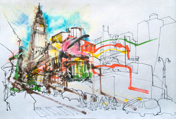 Herald Square drawing.