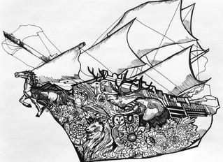 Mutiny Shaving illustration series