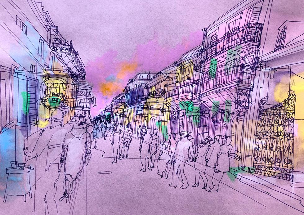 New Orleans - French Quarter.
