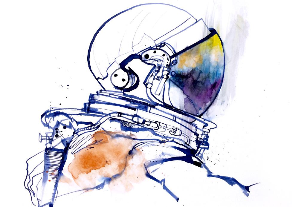 Escape Space Suit reportage art