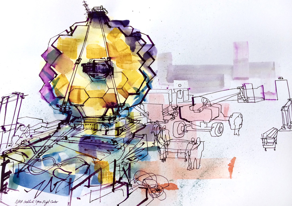 James Webb reportage art.