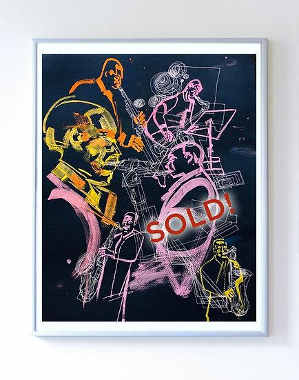 John Coltrane painting sessions.