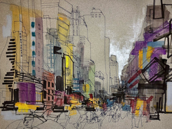 Times Square drawing.
