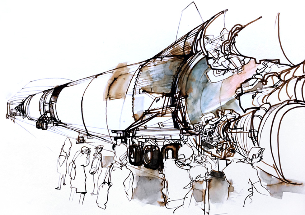 Saturn V Apollo rocket.