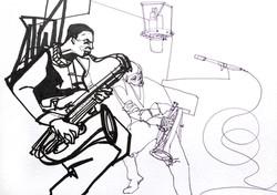 Jazz legends illustration.