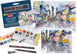 Derwent Line & Wash development and illustration