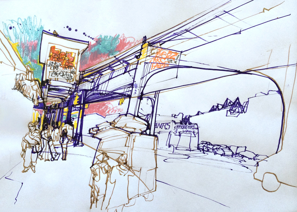 Jackson Heights drawing.