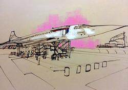 Concorde jet.