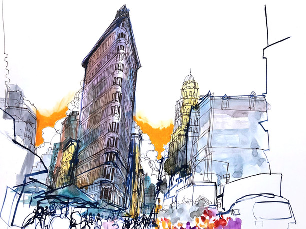 NYC Reportage drawing
