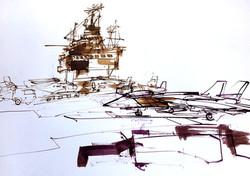 Carrier deck.