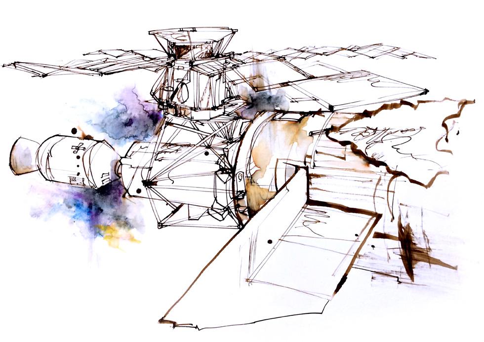 Skylab drawing.