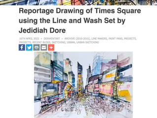 Time Square Reportage Drawing Article - Derwent