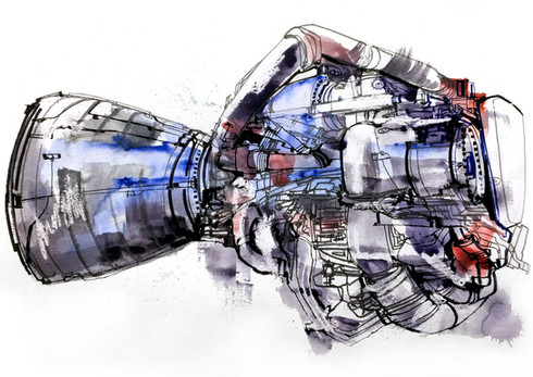 Space Exporation-Shuttle Rocket Engine