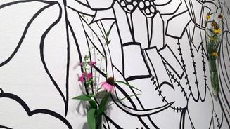 "Detail of ""Flourish"" mural"