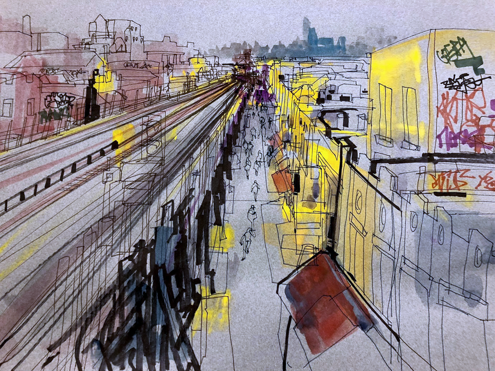 Roosevelt Avenue drawing.