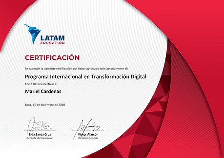 Diploma PITD de LATAM Education