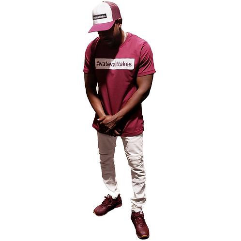 White/Maroon Hat
