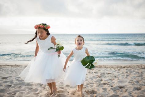 beach flower girls