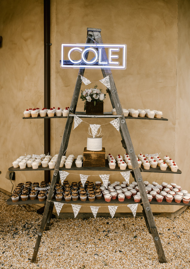 vintage cupcake ladder
