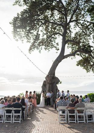 ocean side wedding