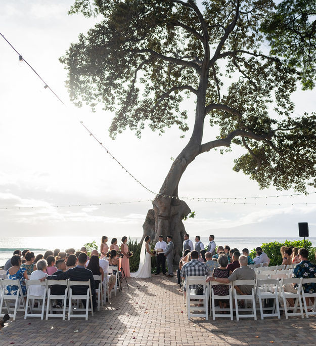ocean side wedding