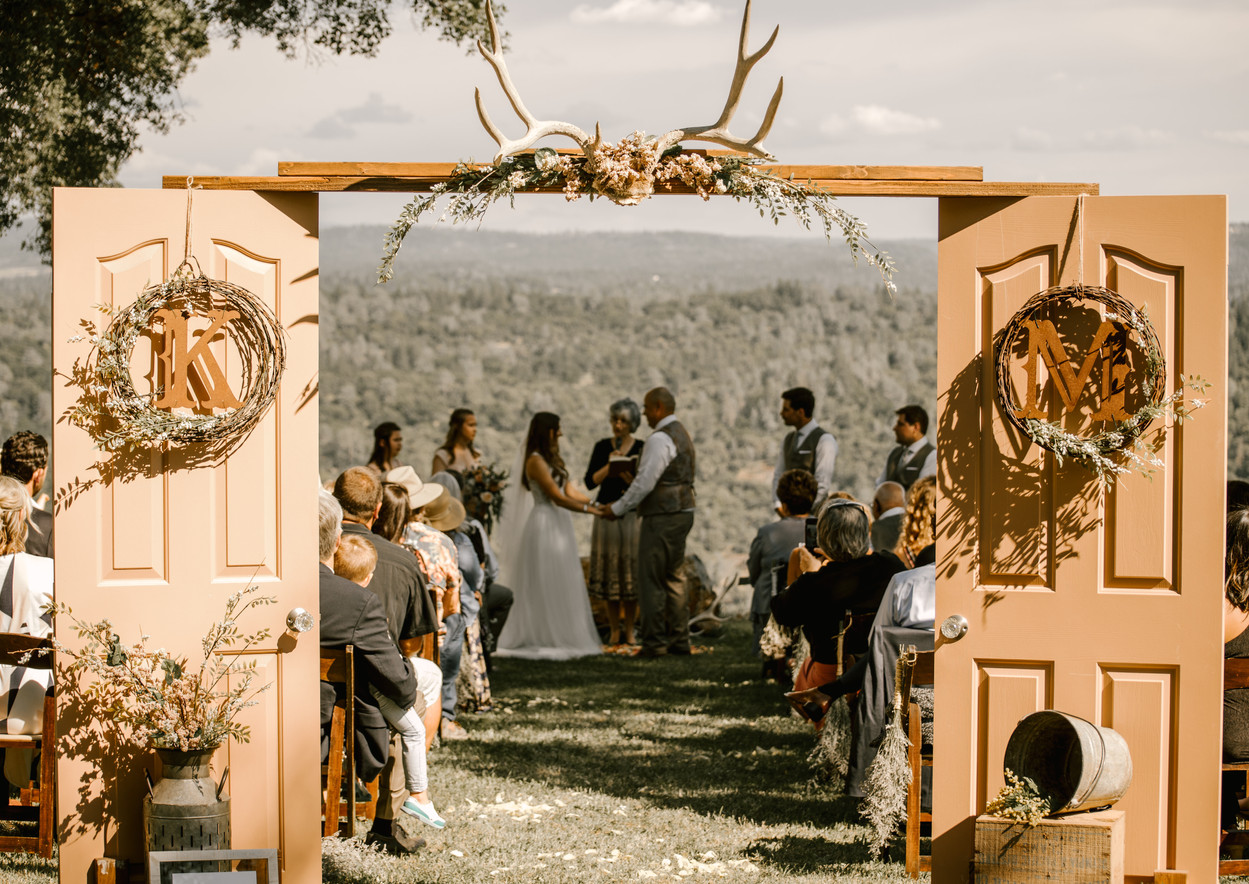 country ceremony doors